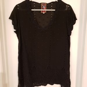Johnny Was Eyelet Tunic Top